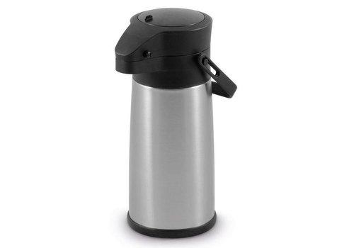 Hendi Pot à Pompe Inox   Système de Pression   2200ml