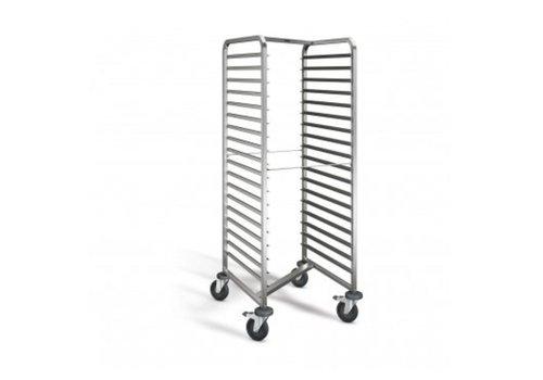 Blanco Chariot à glissières | 18 x 2/1 GN | 66,2x73,4x164,5 cm