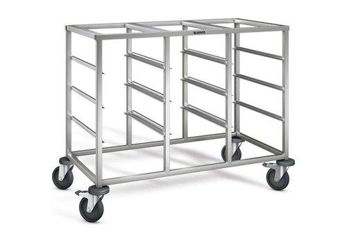 Blanco Chariot à plateau en acier inoxydable | 12 x 1/1 GN | 116,5x62,5x90 cm
