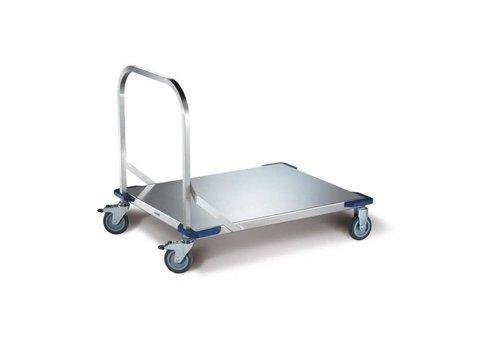 Blanco Chariot à plate-forme en acier inoxydable | 100 x 80 | 250 KG