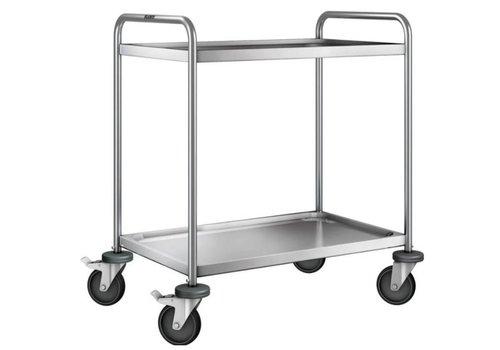 Blanco Chariot de service en inox | 2 plateaux | 90x60x95 cm