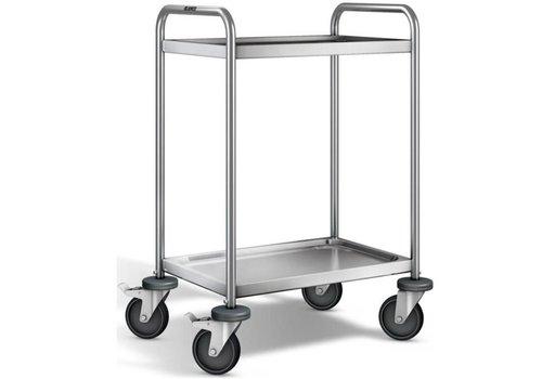 Blanco Chariot de service en inox | 2 plateaux | 70x50x95 cm