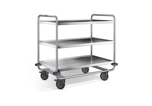 Blanco Chariot de service en inox | 3 plateaux | 110x70x101 cm