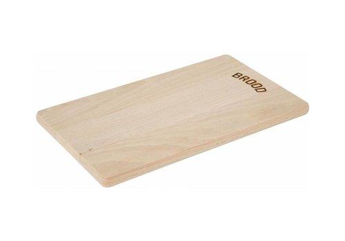 Hendi Planche à Pain | Hêtre Massif | 340x200x14(h)mm
