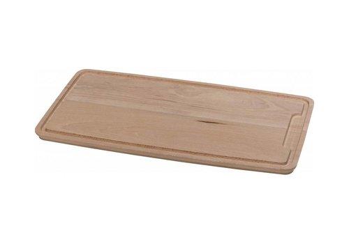 Hendi Planche à Découper la Viande | Hêtre Massif Avec Rigole | 390x230x16(h)mm