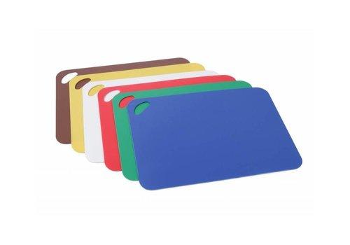 Hendi Set de 6 Plaques de Découpe | Blanc, Rouge, Bleu, Vert, Marron, Jaune | 290x380mm