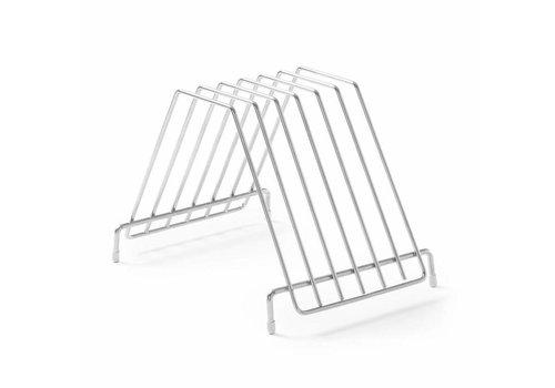 Hendi Support Inox | Pour 6 Planches à Découper | 303x211x205(h)mm