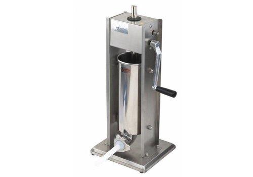 Saro Machine à Saucisse Inox | 5 Litres | Incl. 4 écuries trémies