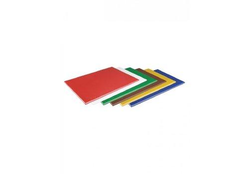 Hygiplas Planche à Découper - Haute Densité - 450x300x12mm - 5 couleurs