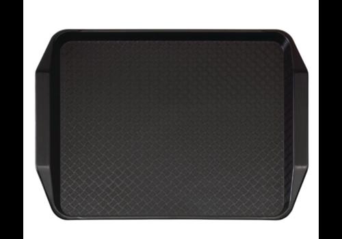 Cambro Plateau rectangulaire avec poignées en polypropylène Fast Food Cambro noir 43 cm