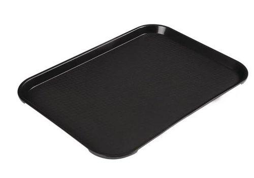Cambro Plateau rectangulaire en polypropylène Fast Food noir 41 cm