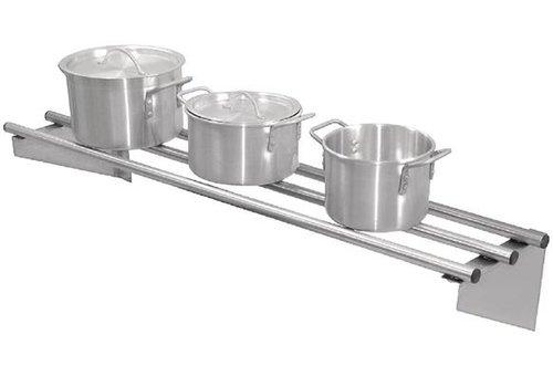 ProChef Etagère murale tubulaire | acier inoxydable 1200*300mm