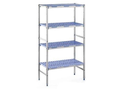 ProChef Rayonnage modulaire 4 niveaux 175 x 40 x 109,2 cm, Matériel Aluminium et polypropylène