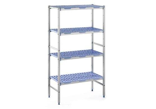 ProChef Rayonnage modulaire 4 niveaux 175 x 50 x 109,2 cm, Matériel Aluminium et polypropylène