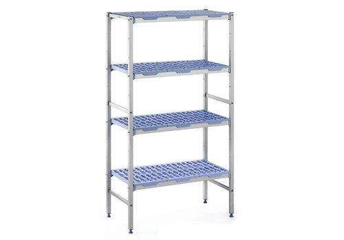 ProChef Rayonnage modulaire 4 niveaux 175 x 50 x 149,2 cm, Matériel Aluminium et polypropylène