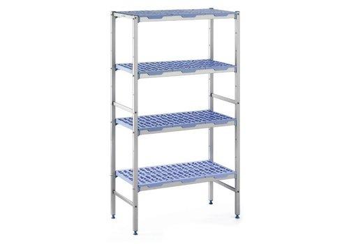ProChef Rayonnage modulaire 4 niveaux 175 x 40 x 169,4 cm, Matériel Aluminium et polypropylène