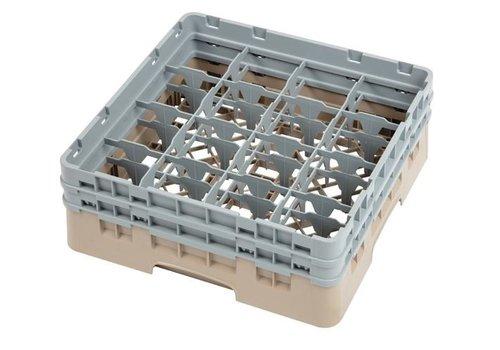 ProChef Casier à verres 16 compartiments Camrack beige hauteur max 13 cm