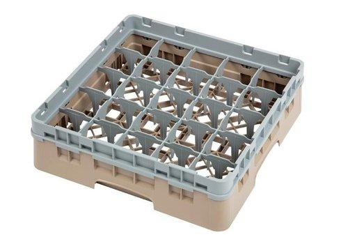 ProChef Casier à verres 25 compartiments Cambro beige hauteur max 9,2 cm