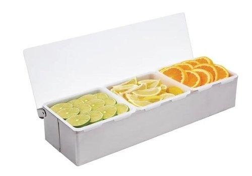 ProChef Boîte à 3 Compartiments | Inox | 76x460x152 mm