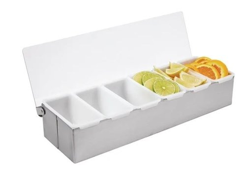 ProChef Boîte à 6 Compartiments | Inox | 76x460x152 mm