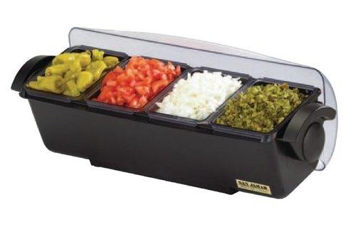 ProChef Boîte à 4 Compartiments | Plastique | 155x510x155 mm