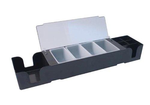 ProChef Boîte à compartiment | Noire | Plastique | 95x605x155 mm