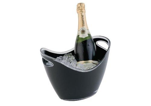 ProChef Seau à vin ou champagne | APS | Noir | 2 bouteilles