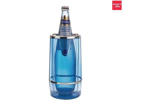 ProChef Rafraîchisseur à vin | Acrylique | APS | Bleu | 230(H) x 120(Ø) mm