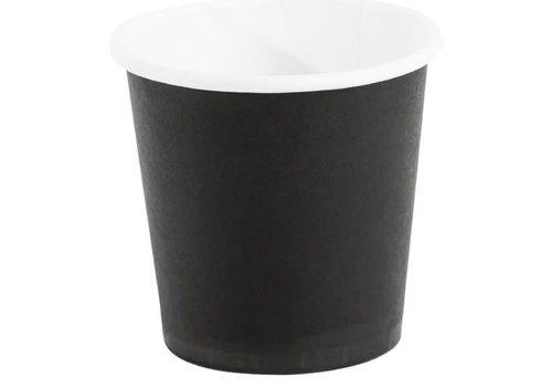 ProChef Gobelets jetables à café espresso, noirs 120ml x1000
