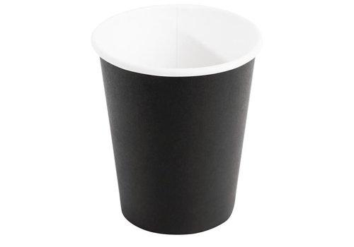 ProChef Gobelets jetables boissons chaudes, noirs 225ml x1000