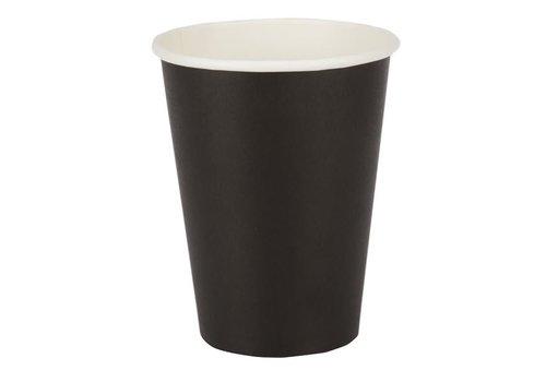 ProChef Gobelets jetables boissons chaudes, noirs 340ml x50
