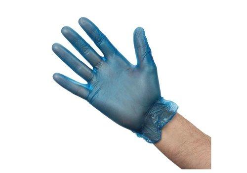 ProChef Gants alimentaires en vinyle poudré, bleus