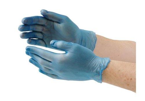 ProChef Gants alimentaires en vinyle non poudrés, bleus