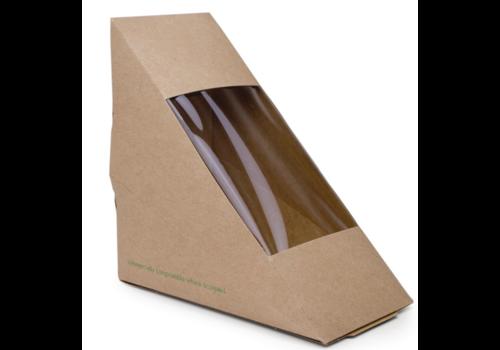 ProChef Boîtes sandwichs triangles | Kraft standards | 65mm | Lot 500)