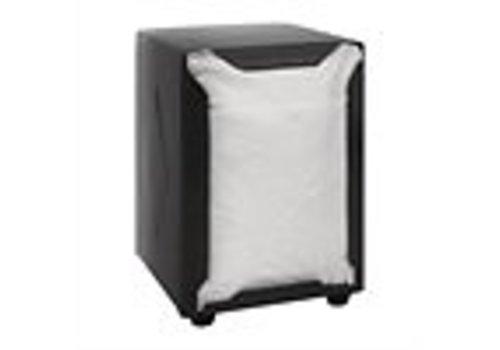 ProChef Distributeur de serviettes | Inox | Noir | 140(H) x 90(L) x 107(P)mm