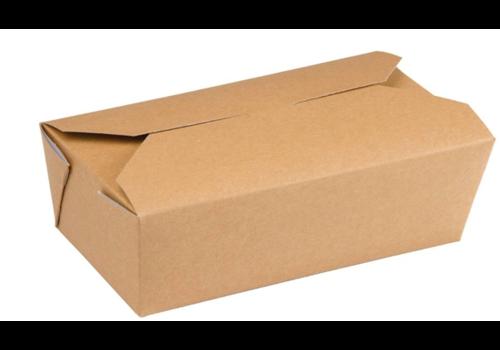ProChef Cartons alimentaires | Rectangulaires kraft Colpac | 985ml | Lot de 250