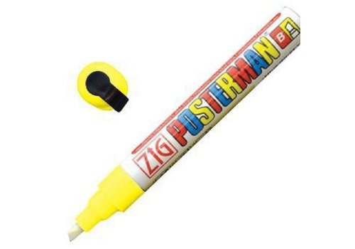 Securit Marqueur craie tous temps Securit Zig Posterman 6mm jaune