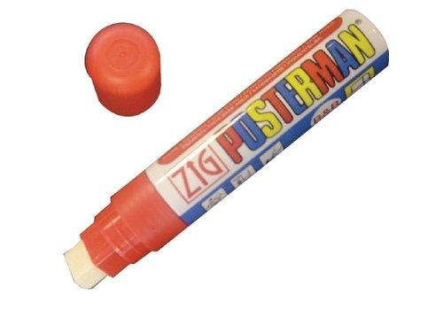 Securit Marqueur craie tous temps Securit Zig Posterman 6mm rouge