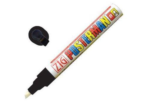 Securit Marqueur craie tous temps Securit Zig Posterman 6mm noir