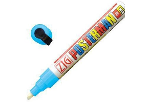 Securit Marqueur craie tous temps Securit Zig Posterman 6mm bleu clair