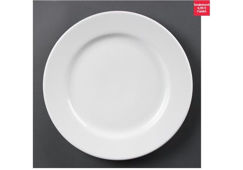 Olympia Assiettes à bord large blanches Olympia 310mm, lot de 6
