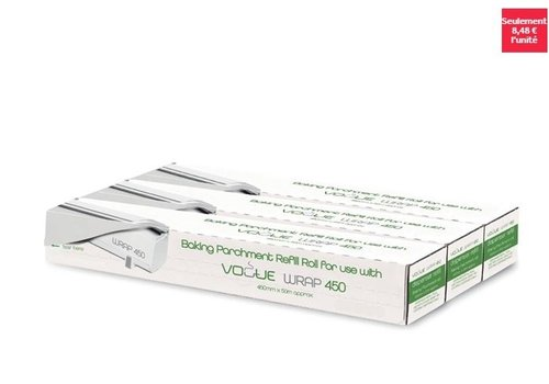 Vogue Rouleaux de papier cuisson pour distributeur Wrap450 Vogue