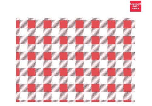 ProChef Papier ingraissable vichy rouge 250x250mm lot de 200