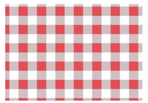 ProChef Papier ingraissable vichy rouge 190x310mm lot de 200