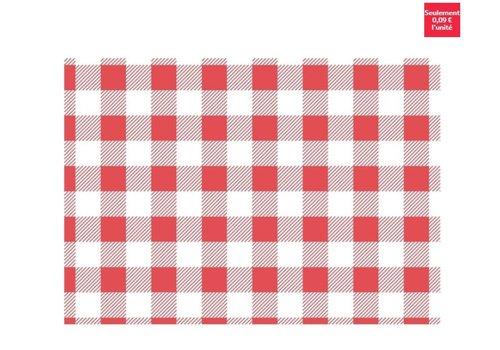 ProChef Papier ingraissable vichy rouge 310x380mm lot de 200
