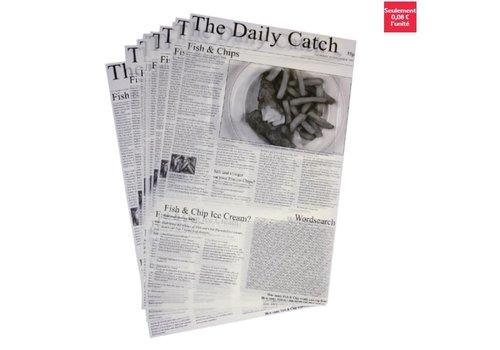 ProChef Carrés de papier ingraissable avec imprimé journal | x 500 | 27 x 42cm
