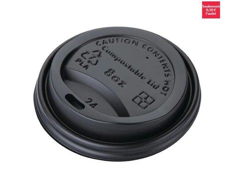 ProChef Couvercles gobelets boissons chaudes CPLA compostables Fiesta Green 225 ml (lot de 50)