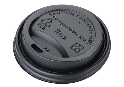 ProChef Couvercles gobelets boissons chaudes CPLA compostables Fiesta Green 225 ml (lot de 1000)