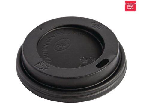 ProChef Couvercles noirs pour gobelets 225ml Fiesta (lot de 50)