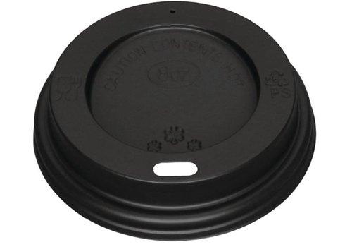 ProChef Couvercles noirs pour gobelets 225ml Fiesta (lot de 1000)